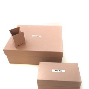 Miu Miu Only Empty Boxes Lot of 2